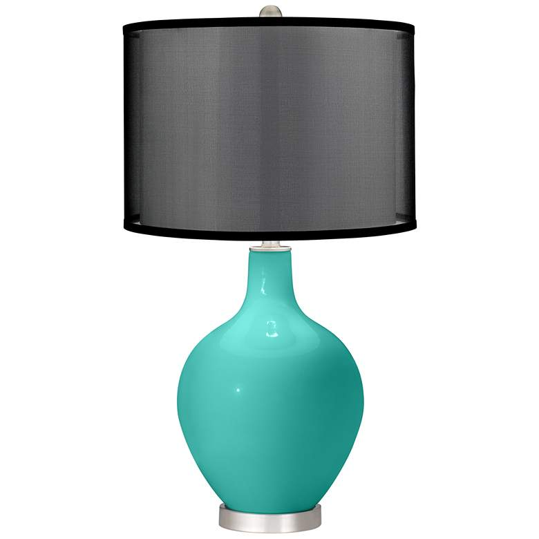 Synergy Ovo Table Lamp with Organza Black Shade