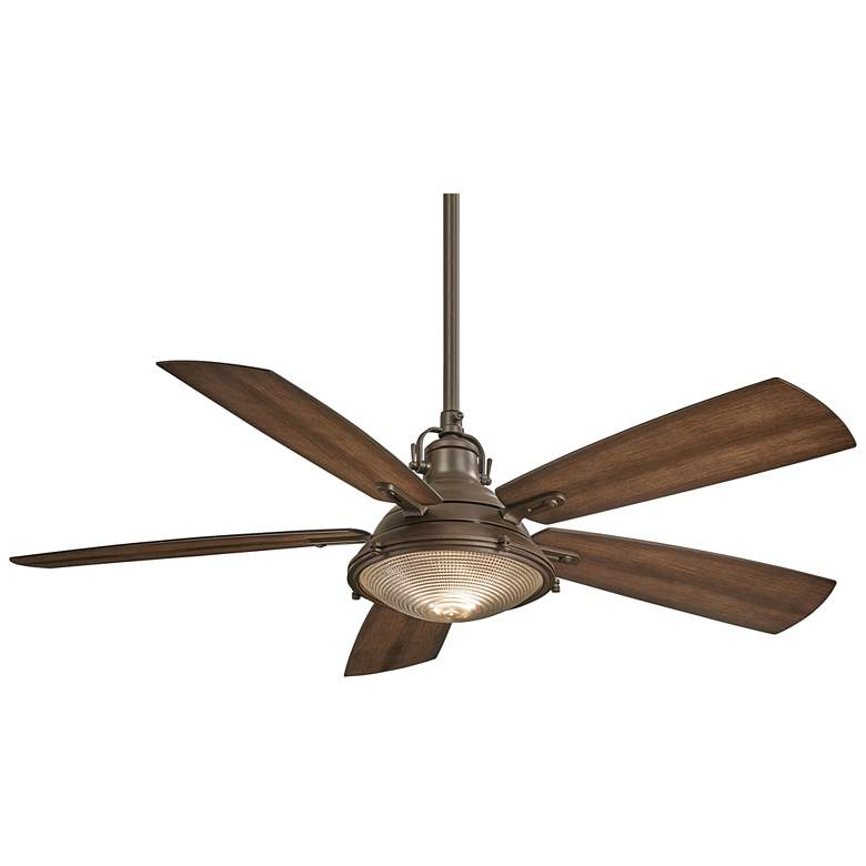 """56"""" Minka Aire Groton Oil Rubbed Bronze Outdoor LED Ceiling Fan"""