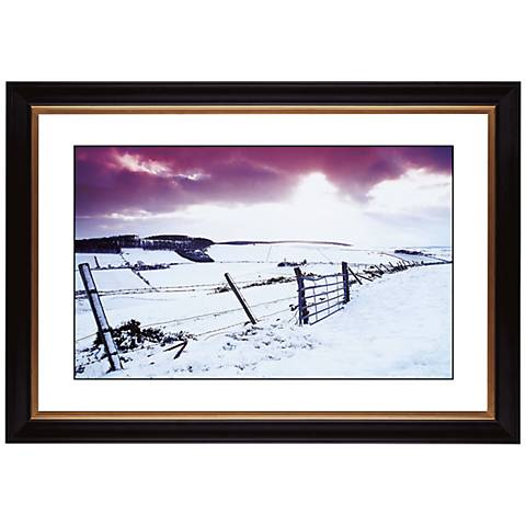 """Snow Fence Giclee 41 3/8"""" Wide Wall Art"""