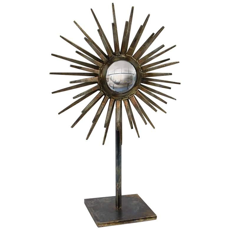 "Regina Andrew Design Radiant 17"" High Brass Iron Sculpture"