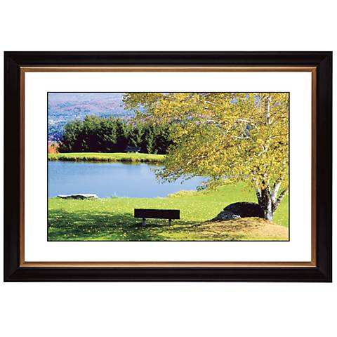 "Lakeside Bench Giclee 41 3/8"" Wide Wall Art"