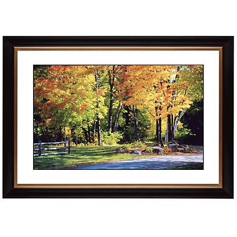 "Falling Leaves Giclee 41 3/8"" Wide Wall Art"