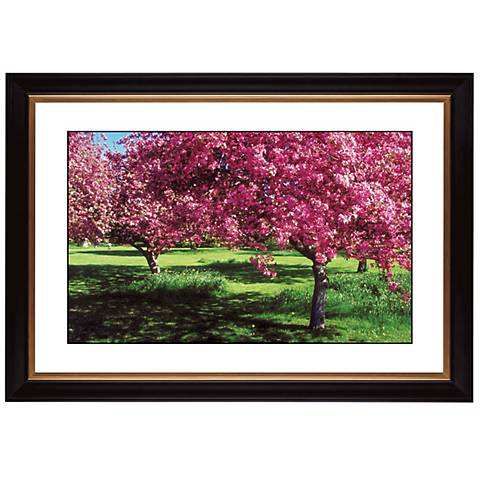 """Spring Trees Giclee 41 3/8"""" Wide Wall Art"""
