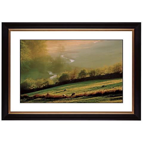 """Misty Sunrise Giclee 41 3/8"""" Wide Wall Art"""