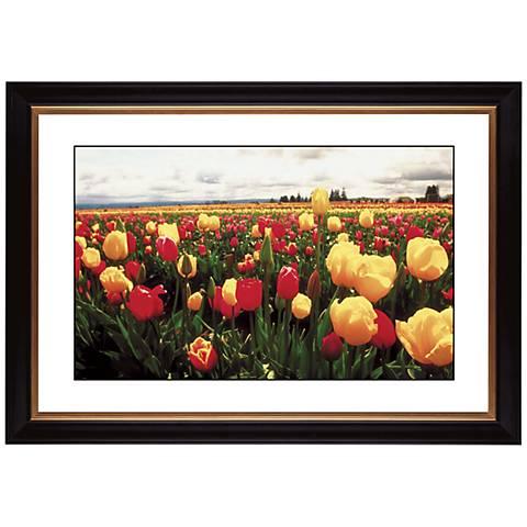 """Tulip Field Giclee 41 3/8"""" Wide Wall Art"""