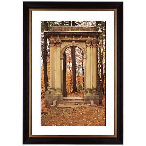 "Gothic Arch in Autumn Giclee 41 3/8"" High Wall Art"