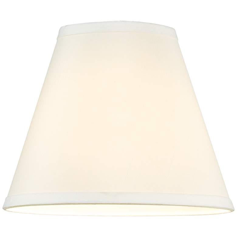 57678 - Off-White Shantung Empire Lamp Shade