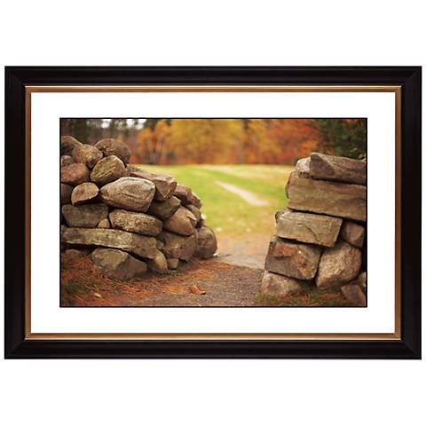 "Stone Wall in Autumn Giclee 41 3/8"" Wide Wall Art"
