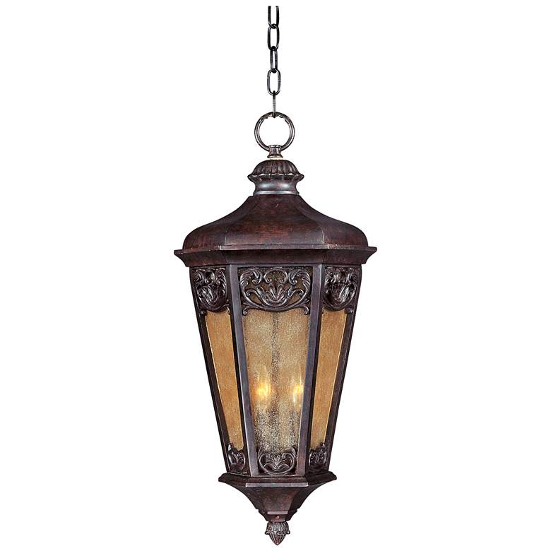 "Lexington VX 26"" High Colonial Umber Outdoor Hanging Lantern"