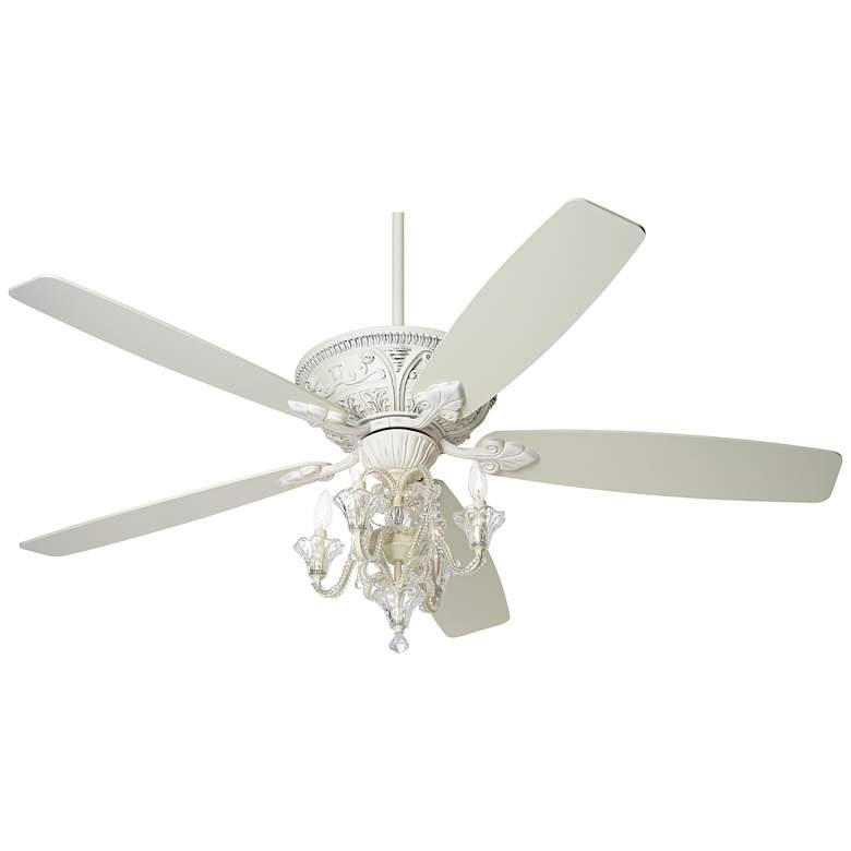 "60"" Casa Vieja™ Montego Pull-Chain White LED Ceiling Fan"