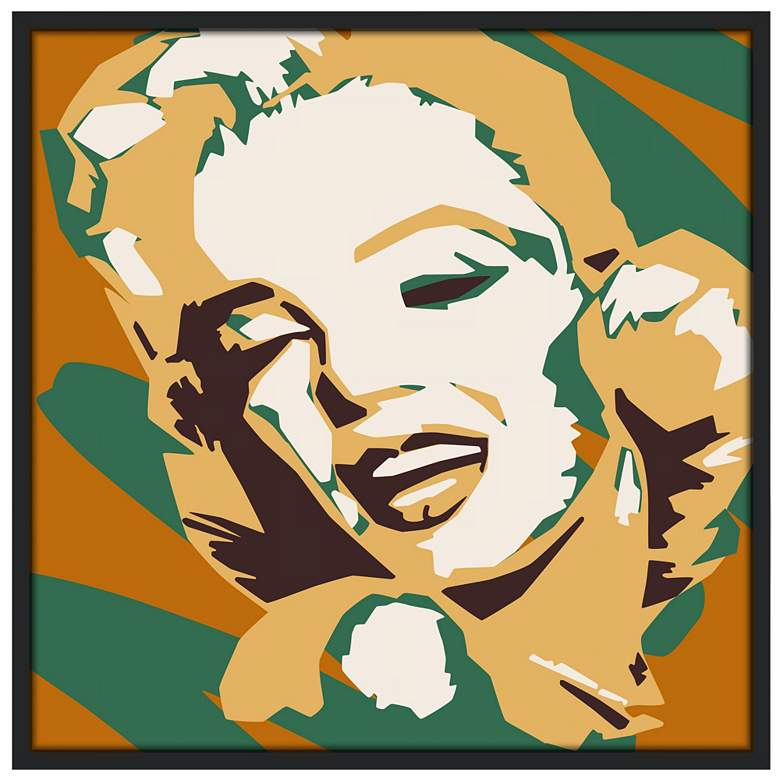 "Classic Blonde II 37"" Square Black Frame Giclee"