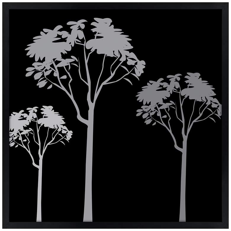 """Forest Trio 21"""" Square Black Giclee Wall Art"""