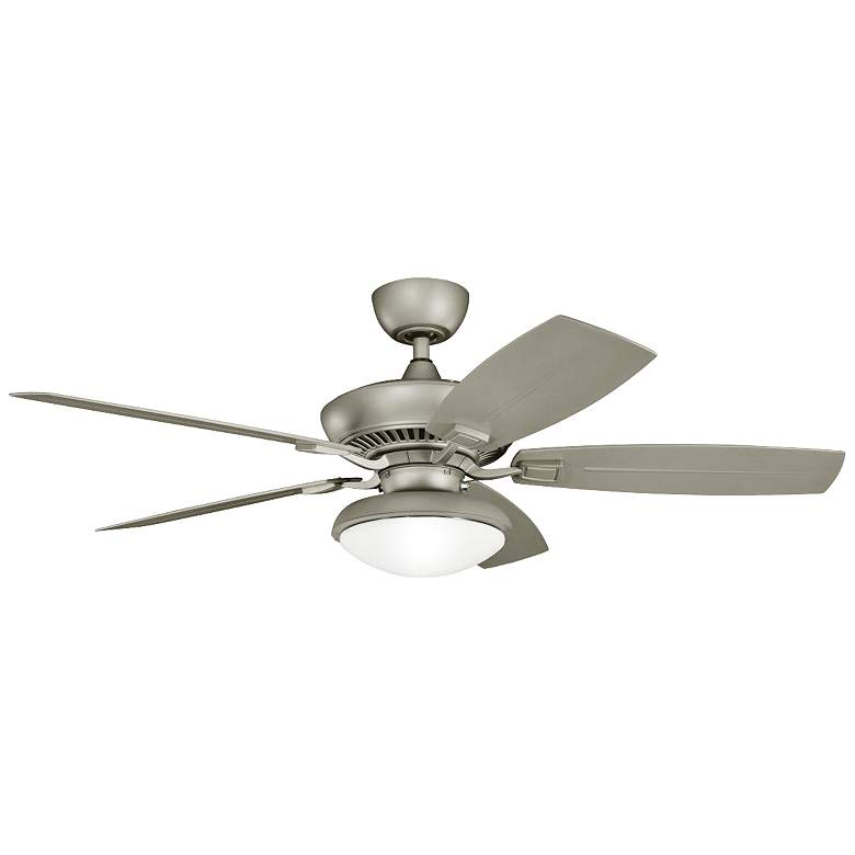 """52"""" Canfield Climates™ Silver Light Outdoor Ceiling Fan"""