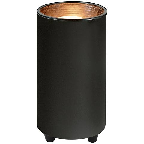 """Mini Accent 6 1/2""""H Can Spot Light in Black with CFL Bulb"""