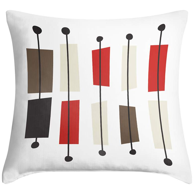 """Bounce 18"""" Square Modern Throw Pillow"""