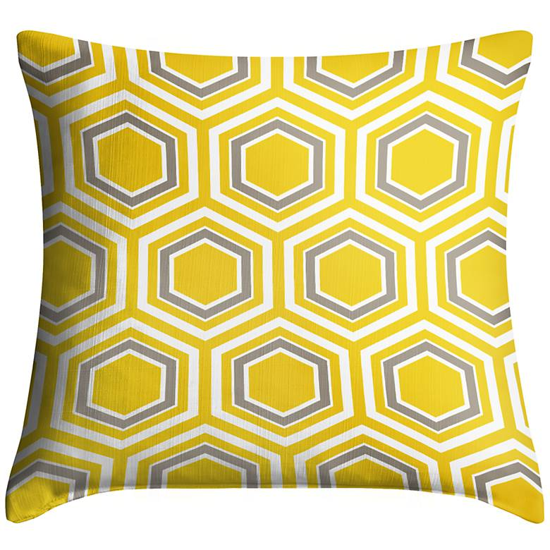 "Honeycomb 18"" Square Throw Pillow"