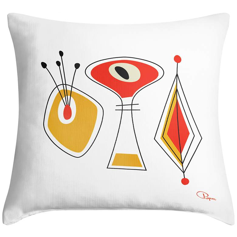 """Lexiconic II 18"""" Square Modern Throw Pillow"""