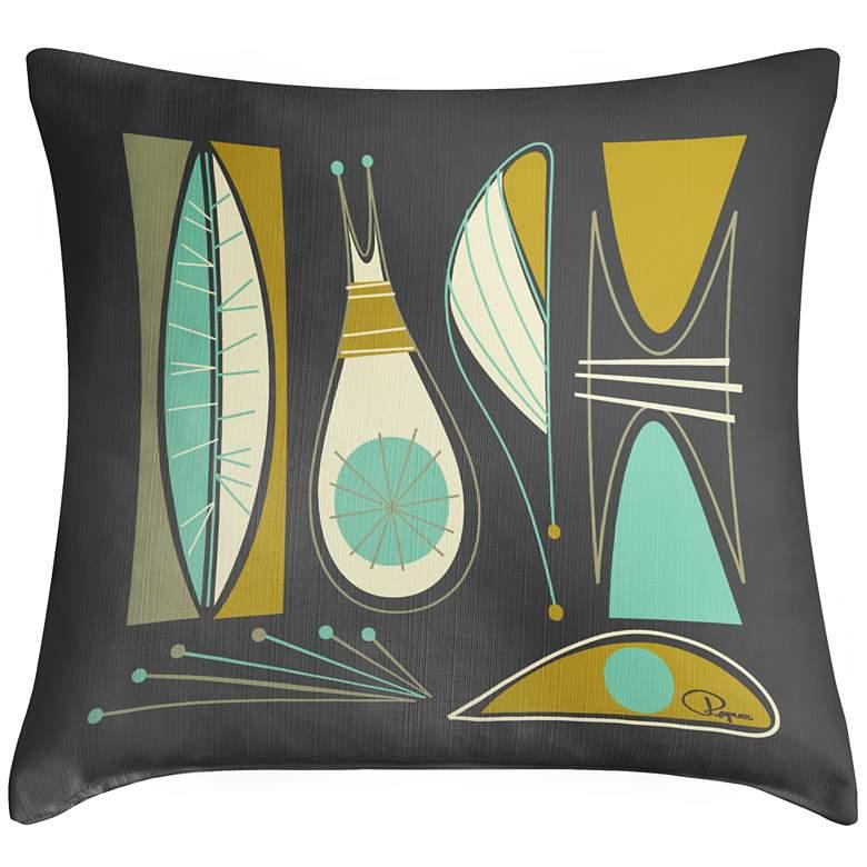 "Chromaphile II 18"" Square Modern Throw Pillow"
