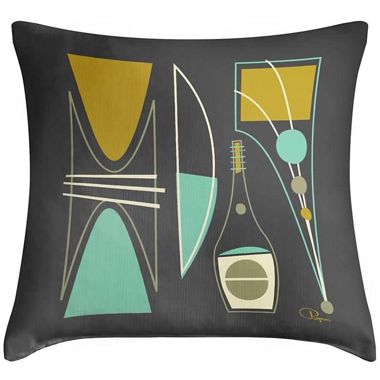 """Chromaphile III 18"""" Square Throw Pillow"""