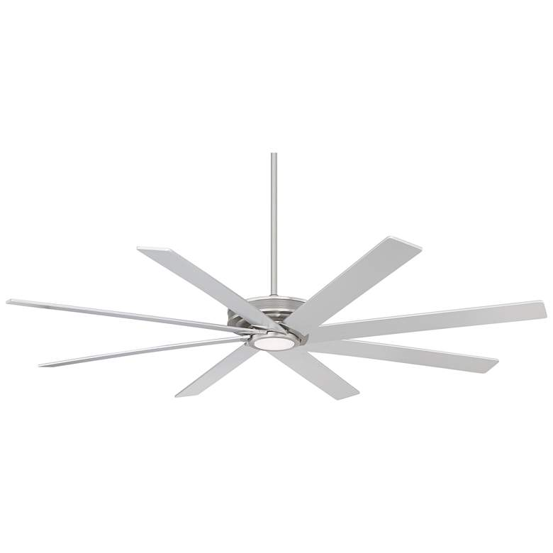 """70"""" Glider™ Brushed Nickel LED DC Outdoor Ceiling Fan"""