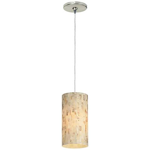 "Playa 4 1/2"" Wide Satin Nickel LED Freejack Mini Pendant"