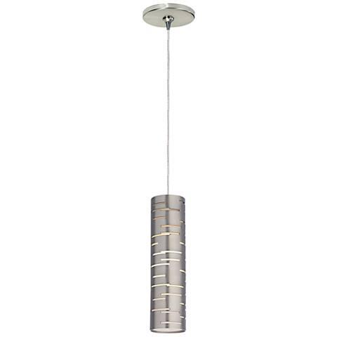 "Revel 2 1/2"" Wide Satin Nickel LED Freejack Mini Pendant"