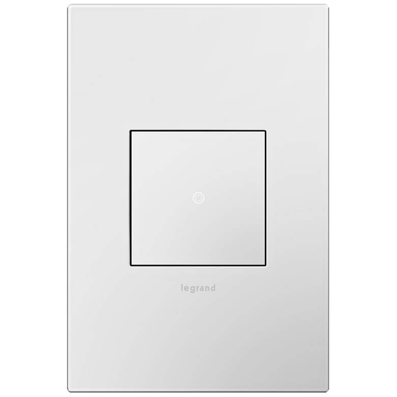 adorne Gloss White 1-Gang Wall Plate with sofTap