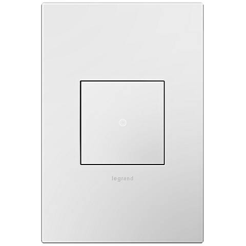 adorne Gloss White 1-Gang Wall Plate with sofTap Switch