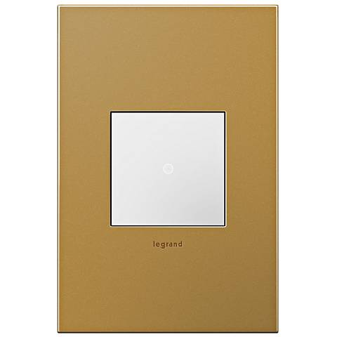 adorne Satin Bronze 1-Gang Cast Metal Wall Plate with Switch