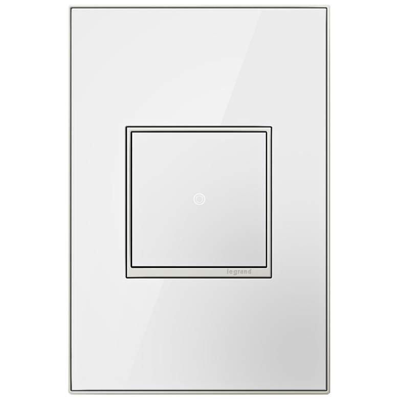 adorne Mirror White 1-Gang Real Metal Wall Plate