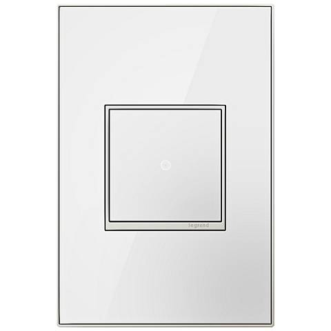 adorne Mirror White 1-Gang Real Metal Wall Plate with Switch