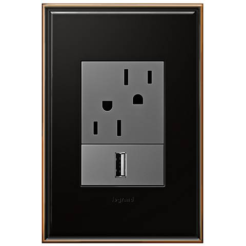 Oil-Rubbed Bronze 1-Gang+ Cast Metal Wall Plate with Outlets