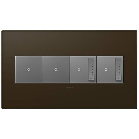 adorne Bronze 4-Gang Wall Plate with 2 Switches and 2 Dimmers
