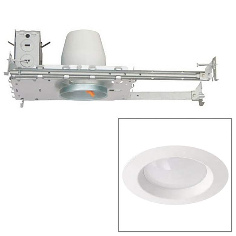 "White 3"" Airtight 8 Watt LED New Construction Recessed Kit"