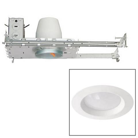 "White 3"" Airtight 8 Watt LED New Construction Recessed Kit"
