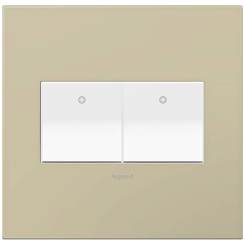 adorne Ashen Tan 2-Gang Wall Plate w/ 2