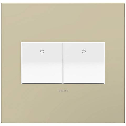 adorne Ashen Tan 2-Gang Wall Plate w/ 2 Switches