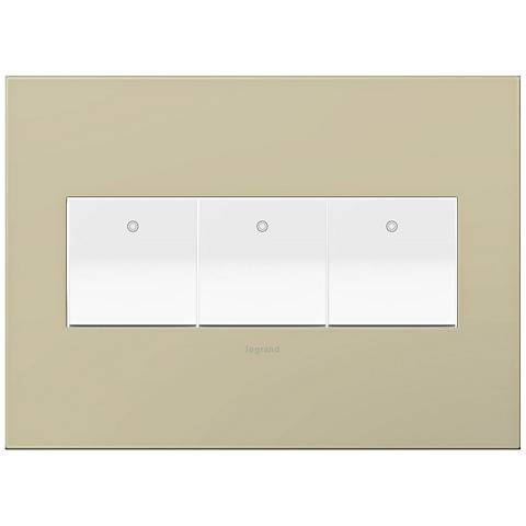 adorne Ashen Tan 3-Gang Wall Plate w/ 3 Switches