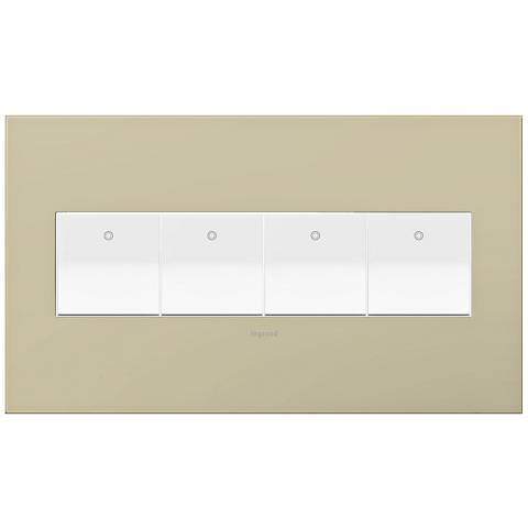 adorne Ashen Tan 4-Gang Wall Plate w/ 4 Switches