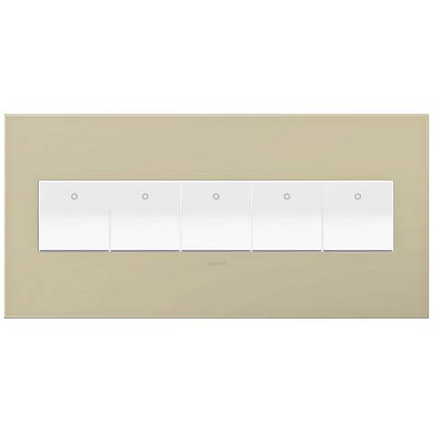 adorne Ashen Tan 5-Gang Wall Plate w/ 5 Switches