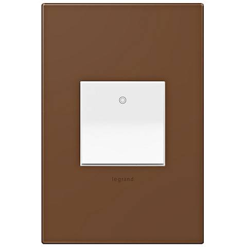 adorne Cappuccino 1-Gang Wall Plate w/ Switch