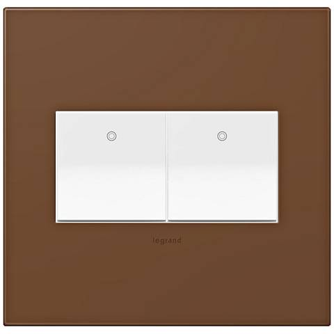 adorne Cappuccino 2-Gang Wall Plate w/ 2 Switches