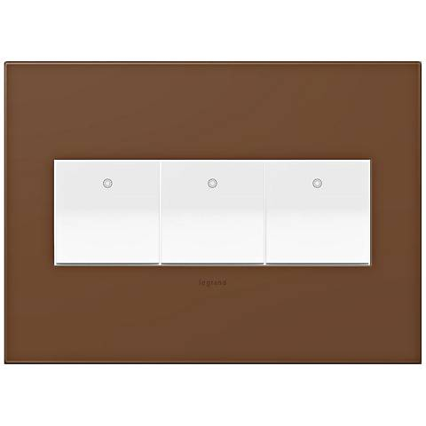 adorne Cappuccino 3-Gang Wall Plate w/ 3 Switches