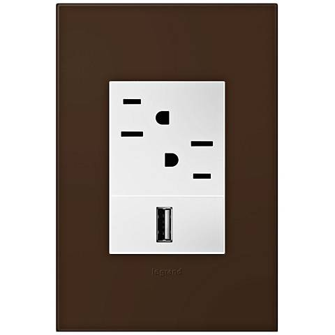adorne Truffle 1-Gang+ Wall Plate w/ Outlets