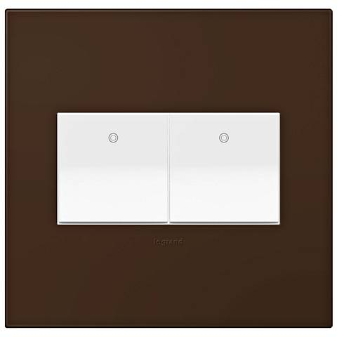 adorne Truffle 2-Gang Wall Plate w/ 2 Switches