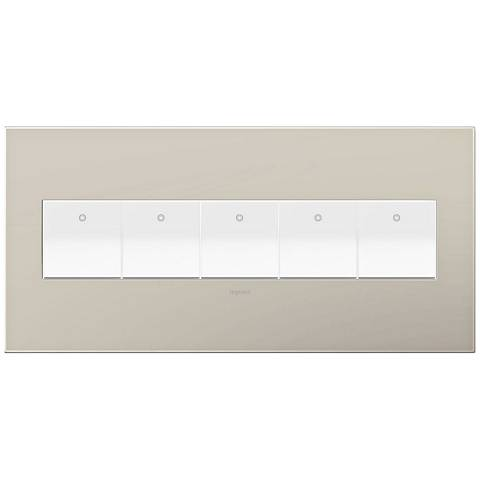 adorne Greige 5-Gang Wall Plate w/ 5 Switches