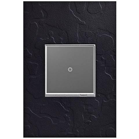 adorne Hubbardton Forge Black 1-Gang Wall Plate w/ sofTap Switch