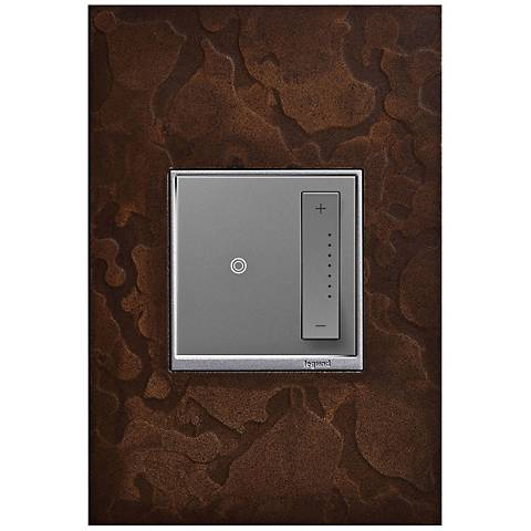 adorne Hubbardton Forge Bronze 1-Gang Wall Plate w/ Dimmer