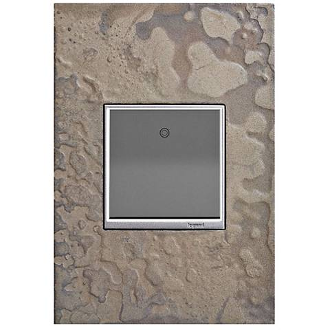 adorne Burnished Steel 1-Gang Wall Plate w/ 15A Paddle Switch