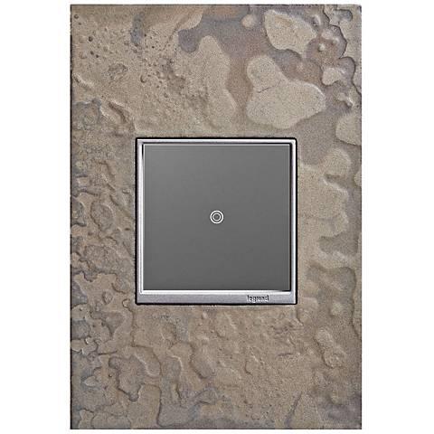 adorne Burnished Steel 1-Gang Wall Plate w/ sofTap Switch